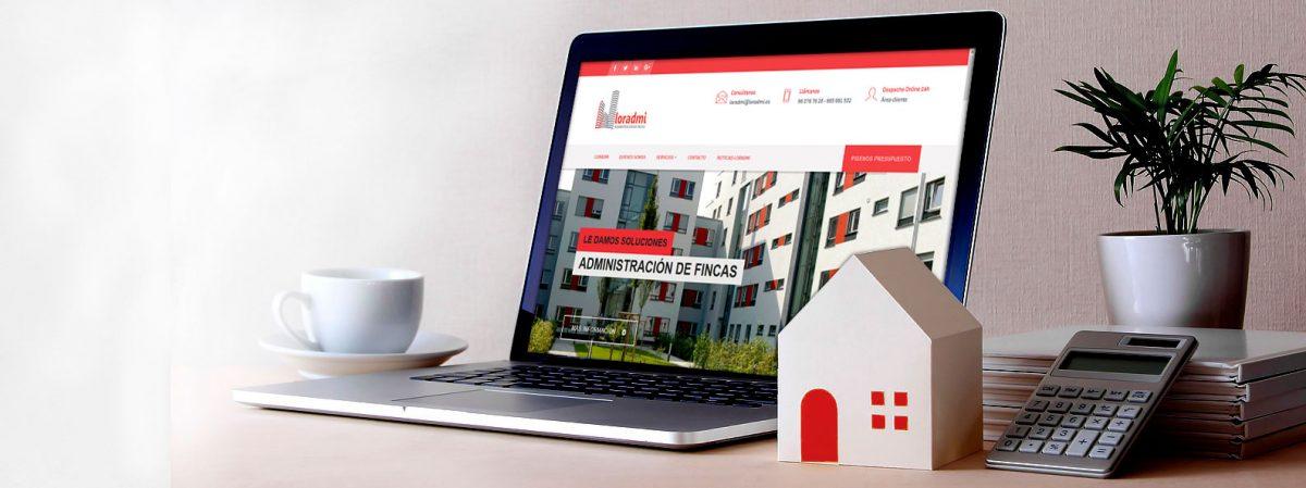 Portada Loradmi Administración de Fincas en Valencia. Despacho online 24h. Su administración de la comunidad de Propietarios a un solo click